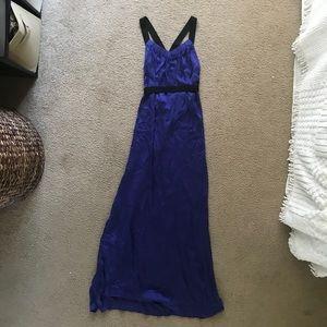 Theory Silk Elastic Trim Maxi Dress